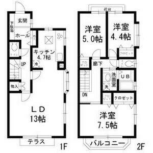 世田谷区等々力5丁目 【賃貸居住】テラスハウス